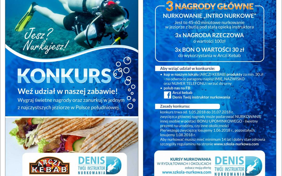 Konkurs w Arczi Kebab Rydułtowy! Wygraj nurkowanie