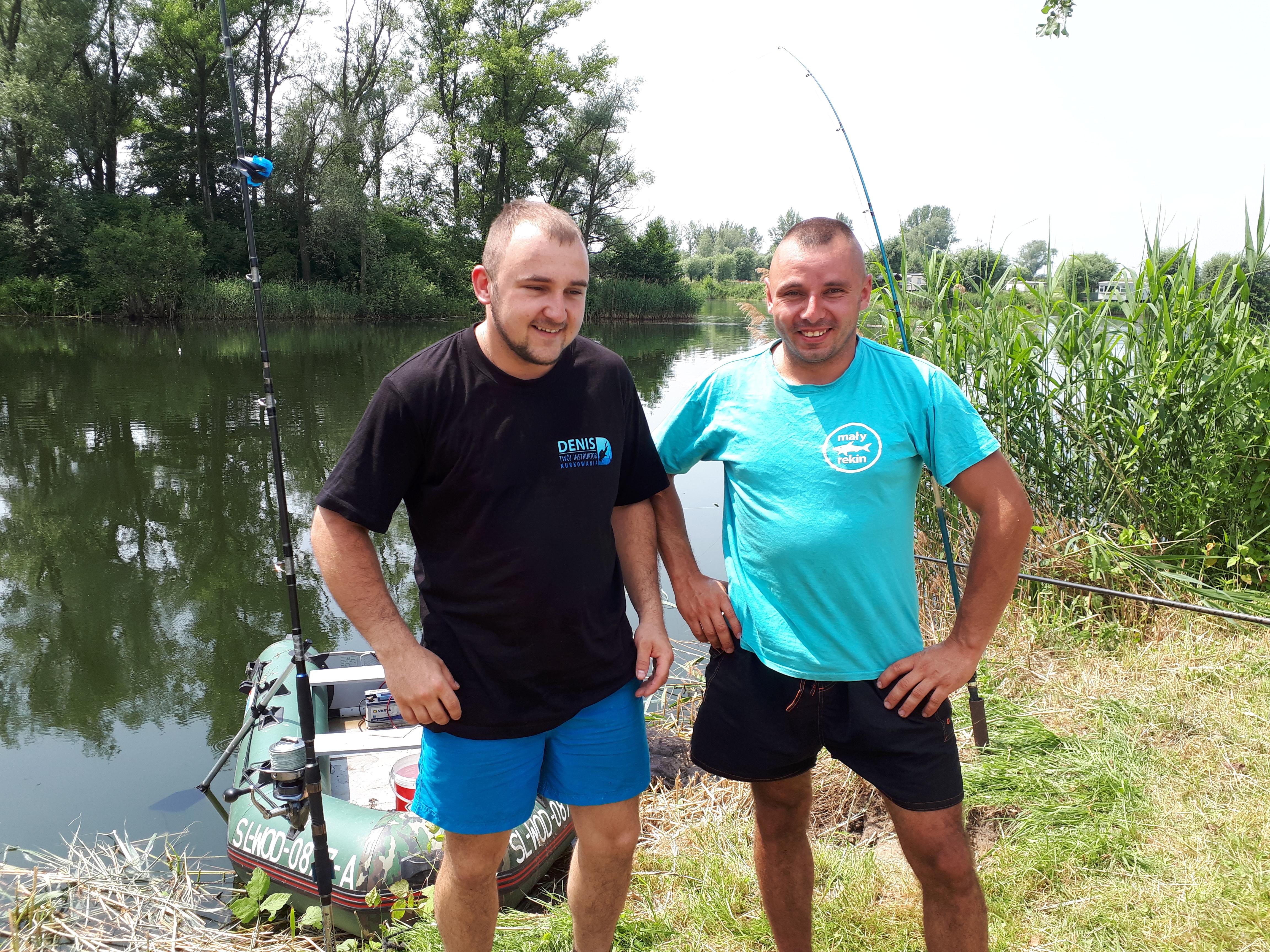 MAŁY REKIN i Denis Twój instruktor nurkowania na wspólnym poszukiwaniu suma 3,5m