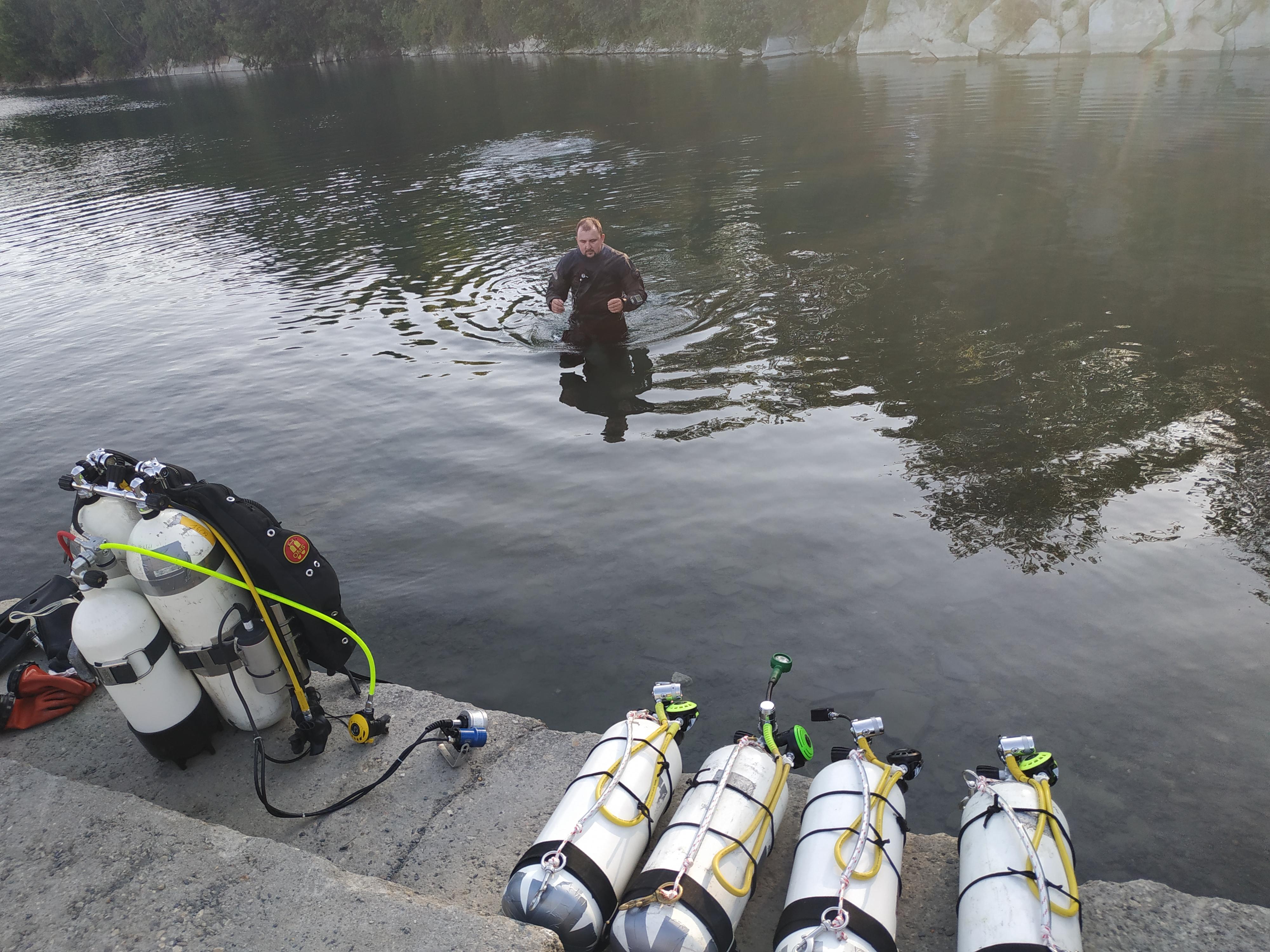 Kilka zdjęć z powierzchni przed nurkowaniem treningowym